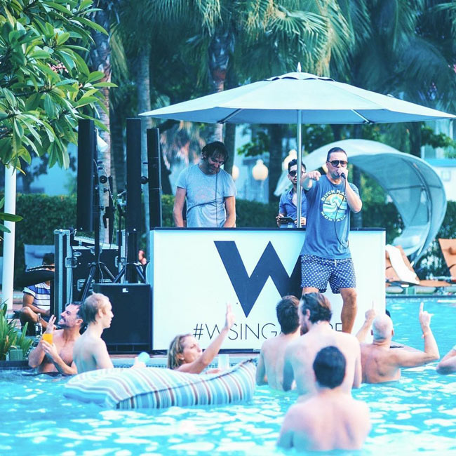 6 reasons to get excited for w singapore 39 s pink pool party for Gay in singapore swimming pools