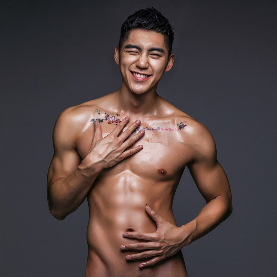 gay muscle asian man