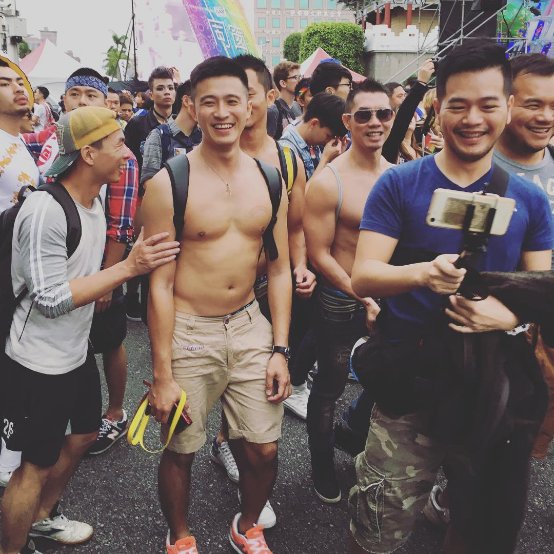 Cute Asia Men on LGBT Pride Taipei by The Gay Passport
