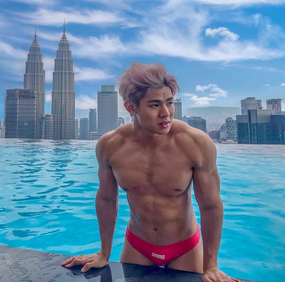 hot asian man devil_matty white party bangkok