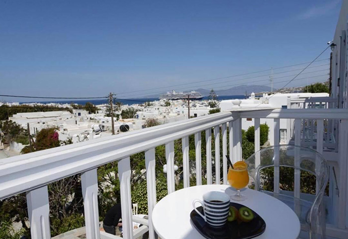 Best-Budget-Gay-Hotels-in-Mykonos-Town-with-Private-Balcony-and-Sea-Views-Elena-Hotel