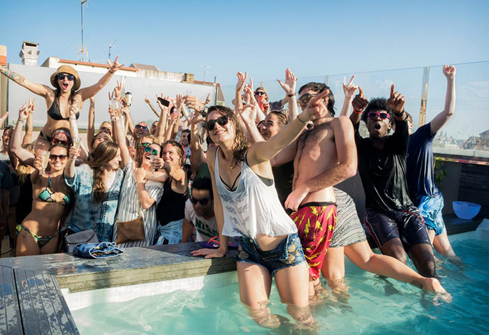 Coolest-Gay-Hostel-Barcelona-WIth-Rooftop-Pool-Sant-Jordi-Hostels-Rock-Palace