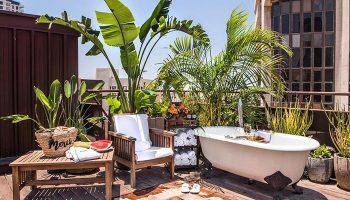 FInd-Cheap-Gay-Hotel-tel-Aviv-Gayborhood-with-Rooftop-Bathtub-Brown-TLV-Hotel