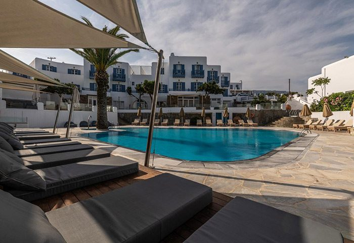 FInd-Last-Minutes-Upsclae-Gay-Hotel-with-Pool-in-Mykonos-Town-Poseidon-Hotel-Suites